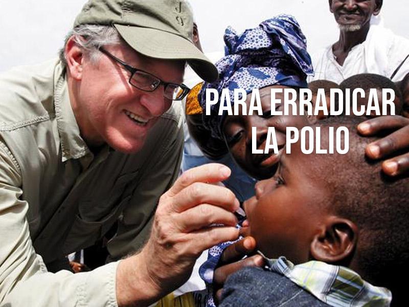 Para erradicar la polio, Fundación Bill & Melinda Gates realiza una nueva acción