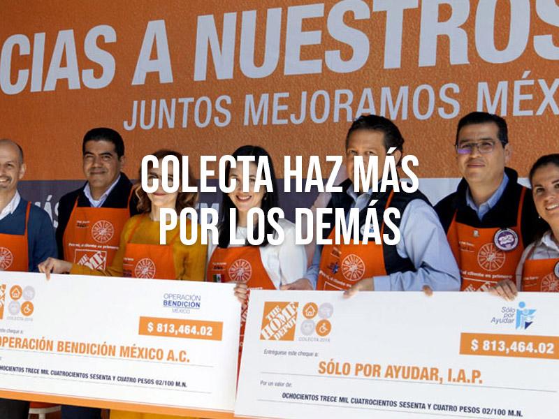 The Home Depot entregó el donativo de su Colecta Haz Más Por Los Demás