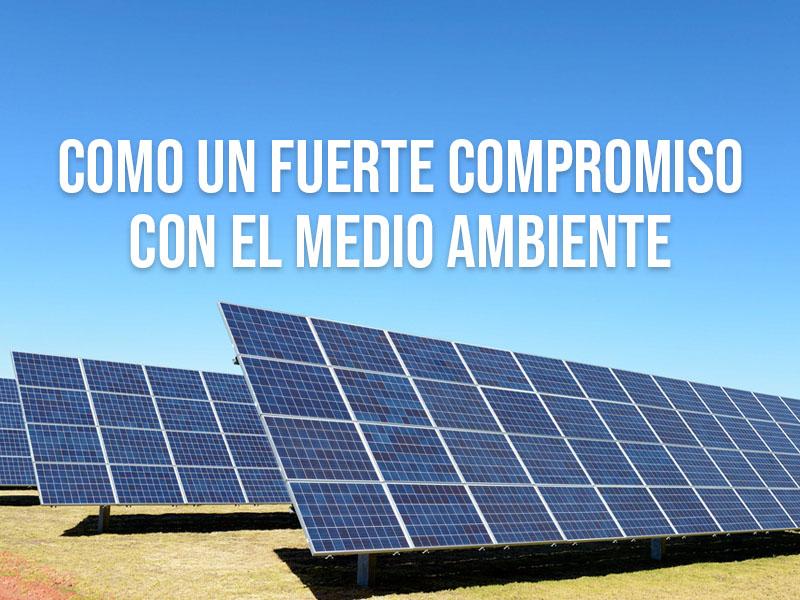 Generación renovable y reducción del consumo de energía como un fuerte compromiso con el medio ambiente