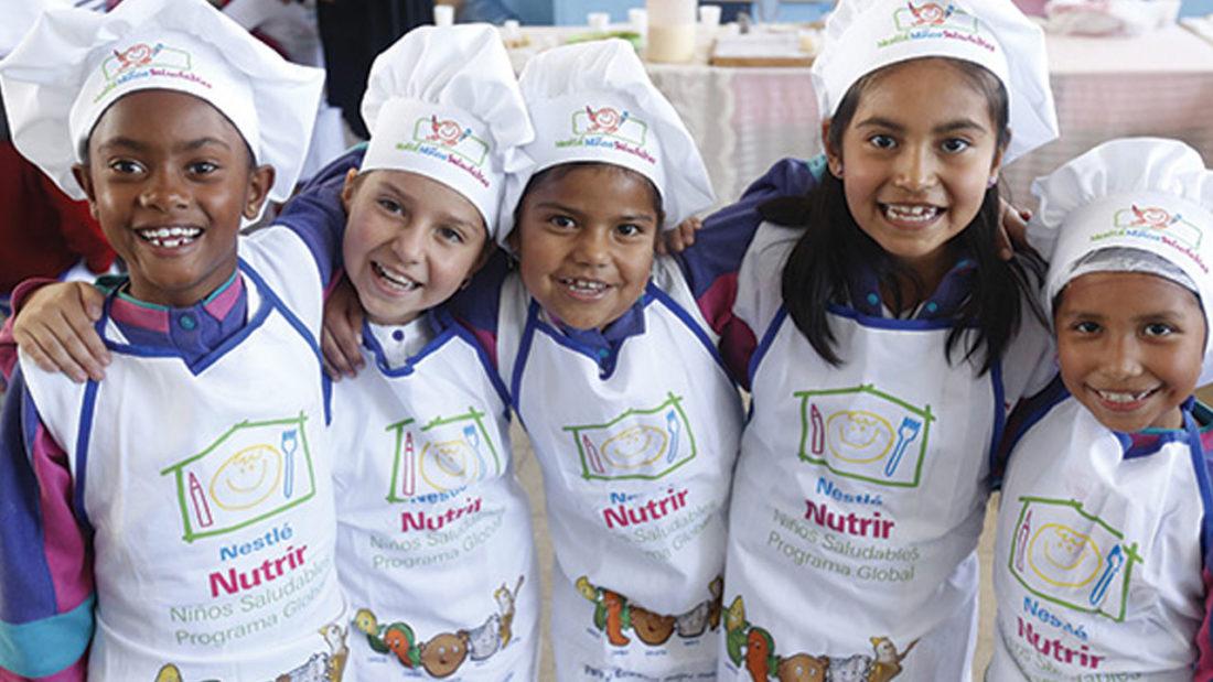 A través de la iniciativa Nestlé por Niños Saludables, ayudaremos a que más de 50 millones de niños en todo el mundo tengan hábitos de vida saludable.