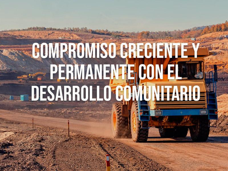 Compromiso creciente y permanente con el desarrollo comunitario