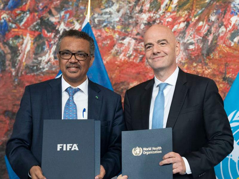 La OMS y la FIFA hacen equipo a favor de la salud