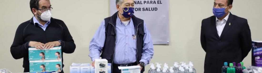 Entrega de donativos en Hidalgo